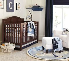 Great furniture options at potterybarnkids.com for cribs that are a solid longterm investment.  This one even converts to a toddler bed and headboard only for a fullsize bed