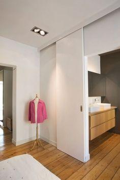 Brilliant Sliding Doors Designs Ideas For You House Design, House Interior, Secret Rooms, Home, Home Engineering, Interior Design Living Room, Sliding Doors Interior, Home Bedroom, Sliding Door Design
