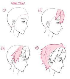 Trendy Hair Drawing Tutorial Boy Anime Hairstyles – Drawing Tips Guy Drawing, Manga Drawing, Drawing People, Drawing Tips, Drawing Sketches, Boy Hair Drawing, Anime Hair Drawing, Drawing Ideas, Ponytail Drawing
