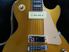 Gibson Les Paul Deluxe NeilYoungized. I'm selling it! Find it on reverb.com https://reverb.com/item/315344-gibson-les-paul-deluxe-goldtop-neil-young-pickup-configuration-p90-and-firebird