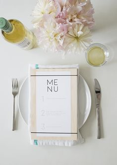 DIY wood + rubber band menus ( with free printable ) - almost makes perfect