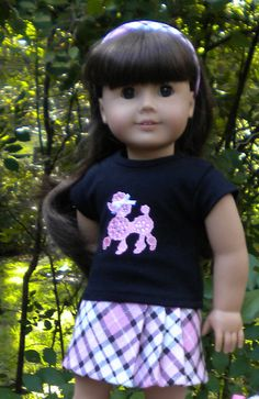 Skirt and T-Shirt set for American Girl or by mydollyscloset1