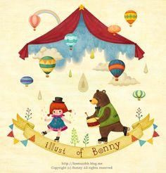 소녀와 곰  #illust #illustration #character #artwok #picture #painting #digitalart #painter #animal #girl #bear #일러스트 #그림