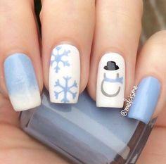 50+ Latest Winter Inspired Nail Art Ideas - EcstasyCoffee