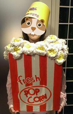 Il mio nido creativo: costume pop corn ricicloso