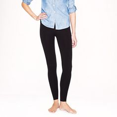 What to wear on days when you really just don't feel like wearing actual pants. J Crew Leggings