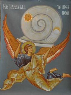 We are an online maker and seller of Orthodox Christian Icons, books, and gifts. Byzantine Icons, Byzantine Art, Religious Icons, Religious Art, Order Of Angels, In The Beginning God, Religious Paintings, All Things New, Archangel Michael
