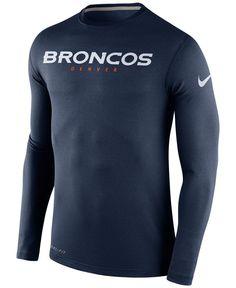Nike Men's Long-Sleeve Denver Broncos Dri-fit Touch T-Shirt