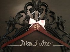 YEP!! love this in the dark wood with plum ribbon!! and awesome that your initials and date are mongrammed on it too!!