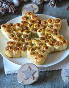 Feuilletés de saucisses en étoile - Idées de feuilletés pour un Noël craquant - Elle