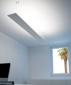 This fixture casts light upward for beautiful ambient light. #office #lighting