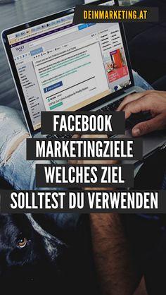 Welches Ziel solltest du für deine Facebook Werbung verwenden? #deinmarketing #digitalewerbung #werbung Affiliate Marketing, Facebook Marketing, Online Marketing, Social Media Plattformen, Social Media Marketing, Marketing Trends, Social Bookmarking, How To Use Facebook, Ad Design