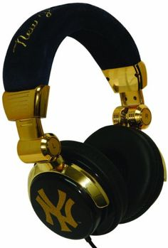 cf9a8783e21 Amazon.com  iHip New York Yankees Limited Edition Gold DJ Style Headphones  - Blue Gold (MLF10279GNYY) (Discontinued by Manufacturer)  Home Audio    Theater