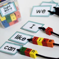 This sight word center is pretty much a staple in my word work stations...even better it's a hack from another one of my products! #1resource2uses #winning