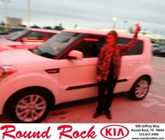 Fidel has shown me everything about the new Kia Soul. The functions of the car and how they all work. He has excellent customer service skills. I will recommend people to come up here and see Fidel to purchase a new car. Thank You very much for the wonderful service, Stephanie Robertson. - STEPHANIE ROBERTSON, Wednesday, October 16, 2013 http://www.roundrockkia.com/?utm_source=Flickr&utm_medium=DMaxxPhoto&utm_campaign=DeliveryMaxx