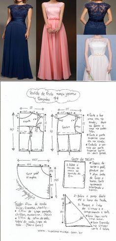 Выкройка вечернего платья с японским рукавом. Размер 36 — 50 (Шитье и крой) | Журнал Вдохновение Рукодельницы