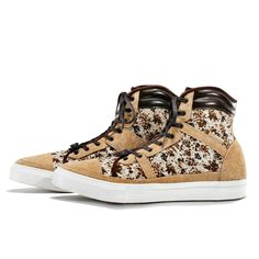 White Mountaineering FLOWER CAMOUFLAGE PRINT HIGH CUT SNEAKERS SS12