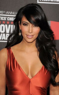 Image detail for -Kim Kardashian Hairstyles 2011 Critics Choice Awards Celebrity