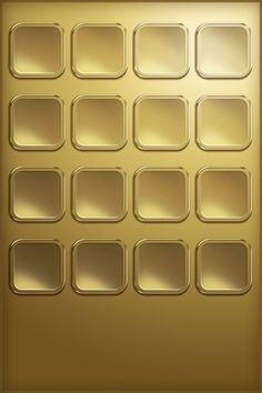 Gold iPhone shelf. Badass.