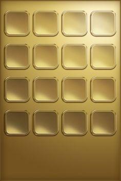 Gold iPhone shelf. Badass.