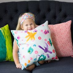 Check out how you can turn any piece of art into a one-of-a-kind pillow. So easy and fun for kids and the perfect custom gifts!