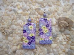 Polymer Clay Millefiori Earrings by Fimoworks on Etsy