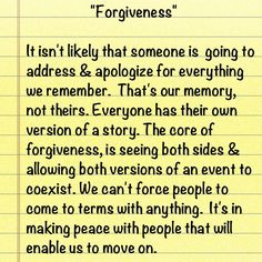 You can't force forgiveness...