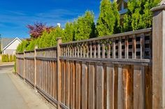 you can add a custom made or pre-made trellis, or plant tall evergreens along the length of the fence.