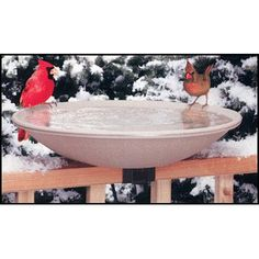 "Allied Precision Industries 20"" Heated Deck Rail Bird Bath with Quick Release"