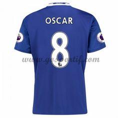 maillot de foot Premier League Chelsea 2016-17 Oscar 8 maillot domicile