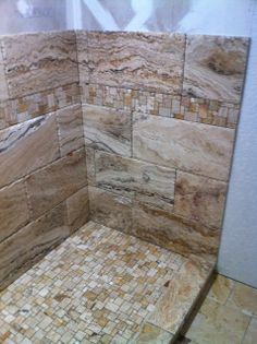 Scabos travertine with Versailles pattern listello and floor
