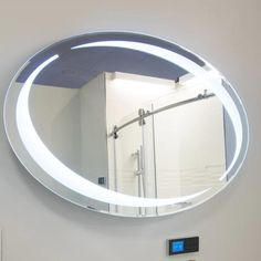 Desire to order Sol Oval LED Vanity Mirror Diy Vanity Mirror With Lights, Lighted Vanity Mirror, Round Wall Mirror, Diy Mirror, Mirror Desk, Vanity Mirrors, Mirror Art, Bathroom Mirrors Diy, Mirrors Wayfair