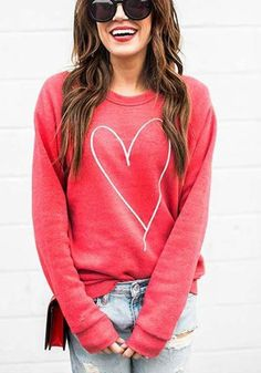 Pullover are usually worn during idle days to effectively class and the place of work. They're thought not your average toys relaxed dress. Outfits For Teens, Fall Outfits, Summer Outfits, Casual Skirt Outfits, Casual Shirt, Valentine's Day Outfit, Outfit Ideas, Embroidered Sweatshirts, Red Fashion