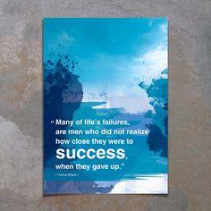 Modern art motivational poster with Inspiring words by inspiring4U, $26.00