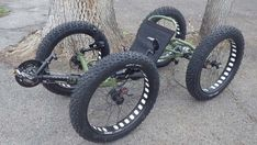 Custom UTCustom Catrike Recumbent Quad by Utah Trikes - check out all our special projects and custom builds Fat Bike, Recumbent Bicycle, Drift Trike, Push Bikes, Pedal Cars, Bike Frame, Motorcycle Bike, Cycling Bikes, Cool Bikes