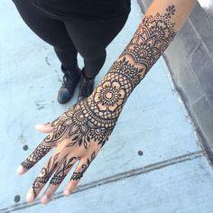 Image result for mehndi tattoo full arm