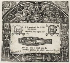 Memento mori from Morbid Anatomy.