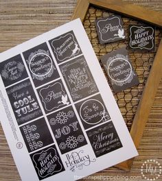The Scrap Shoppe: Printable Christmas Tags (2 Sets)