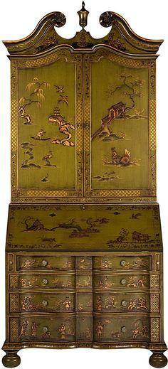 »✷Elysian-Interiors ♕Simply divine #chinoiserie ~ Amazing Green chinoiserie chest