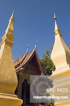 Buddhist temple, Luang Prabang, Laos, Indochina, Southeast Asia, Asia