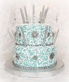 """Mademoiselle"" Tiffany blue cake. Might have to do for either the baby shower or Ireland's 1st birthday!"