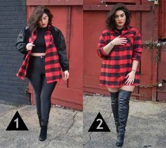 Plaid will always hold you down, no matter the weather.   15 Style Tips From Nadia Aboulhosn, Your New Fashion Inspiration