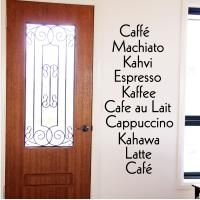 Coffee Delight Wall Decal quote sticker