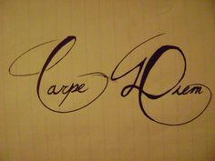 carpe diem by Nocturnal-Leo on DeviantArt Lyric Tattoos, Time Tattoos, Tatoos, Tattoo Quotes, Script Tattoos, Get A Tattoo, Arm Tattoo, Tattoo Pics, Great Tattoos