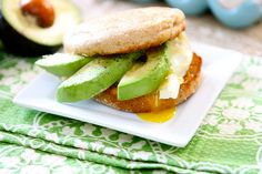 Egg and Avocado Breakfast Sandwich! Delicious and fills you up!