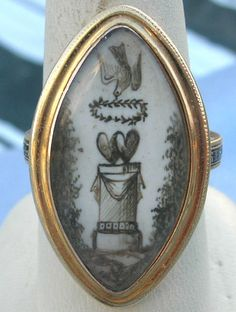 """This ring would be categorised as """"sentimental"""" jewellery given its symbology... It reminds me of a piece of folk art and I love the pencil drawing effect that scrimshaw gives."""