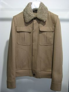 CAMEL SPORT JACKET WITH DETACHABLE SHEARLINGCOLLAR