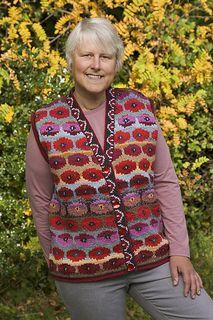 Persian Poppy Waistcoat by Kaffe Fassett