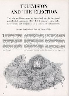 TELEVISION AND THE ELECTION - Scientific American (May, 1953)