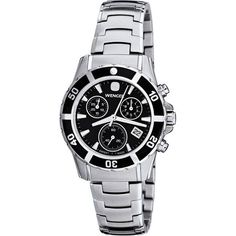 Wenger Women's Sport Elegance Chrono Black Mother-Of-Pearl Dial Bracelet